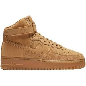 Nike Air Force 1 High Tops Suede Gold
